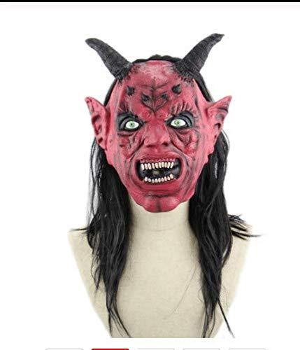 JINFAN Halloween-Maske, Horror Halloween Cosplay Kostüm Maske Party Dekoration Prop Teufel Maske Verfallende Zombie (Super Scary Kostüm Für Halloween)