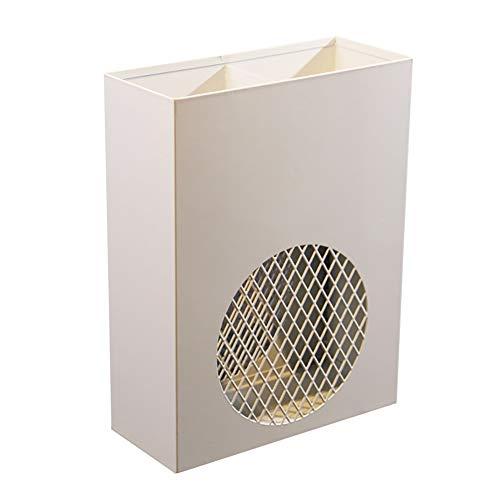 Schirmständer Eisenkunst Flur Schirmschaufel Kreativer Spazierstock Ständer Lagerhalter Rack, 13×30×40 cm (Farbe : Weiß)