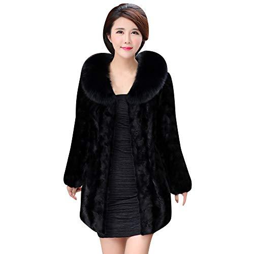 Elecenty donna giacca invernale pelliccia ecologica cappotto giacca invernale parka capispalla outwear