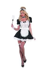 Amscan Costume da domestica francese sexy da donna,  Nero