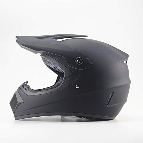 TOUKUI Motocross per adulti motocross Off Road Helmet ATV Dirt bike Downhill MTB casco da corsa cross Casco capacetes con regali GRATUITI@Nero opaco_XL