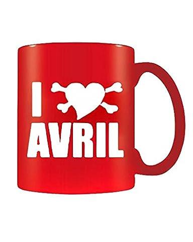 T-Shirtshock - Tasse Mug 11oz FUN0659 avril lavigne heart cu
