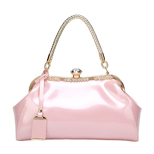 Modische Frauen Handtaschen Handtasche Schulter Skip Bag Pink