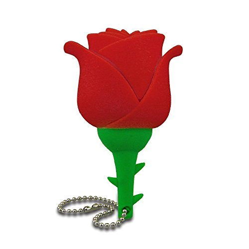 hön Rose Blume USB-Stick,Rot ()