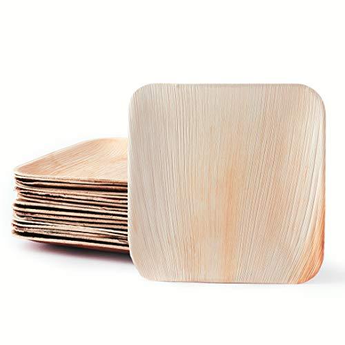 25 natürliche Palmblattteller | Edel & Umweltfreundlich · Unser Stilvolles Palmblattgeschirr ist 100% kompostierbar | Einweggeschirr aus Palmblatt | Palmblätter als Einwegteller