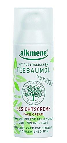 Alkmene Teebaumöl Gesichtscreme - wirksame Pflege bei sensibler und unreiner Haut 50ml