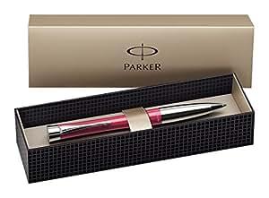 Parker S0767160 Urban Ballpoint Pen, Cool Magenta with Chrome Trim - Blue Ink