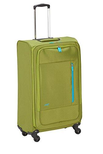 PURE Koffer SUPERLIGHT / kleiner Trolley / Handgepäck / Cabin Trolley / Reisegepäck / Weichgepäck / Reisekoffer / Superleicht / Vortasche / grün / 50 cm /...