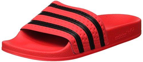 Adidas adilette, pantofole aperte sul retro uomo, rosso (real coral s18/core black/real coral s18), 38 eu