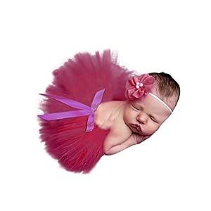 AKAAYUKO Bebé Recién Nacido Falda De Tutú Bowknot And Headband Fotografía Prop 13