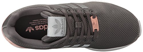 Granite Black Flux Trainers Leather Womens Silver Metallic Adidas ZX ExXwq8nHwg
