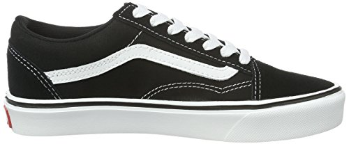 Vans Old Skool Lite Plus Unisex-Erwachsene Sneaker Schwarz (suede/canvas/black/white)