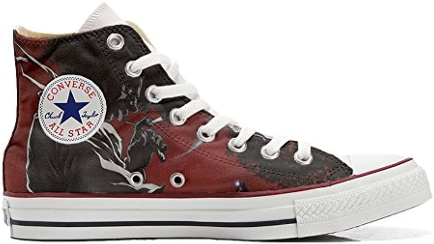 Converse All Star Customized Unisex   Personalisierte Schuhe (Handwerk Produkt) Demon   Size EU 32