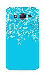 AMEZ designer printed 3d premium high quality back case cover for Samsung Galaxy J5 (sky blue white design pattern abstract)