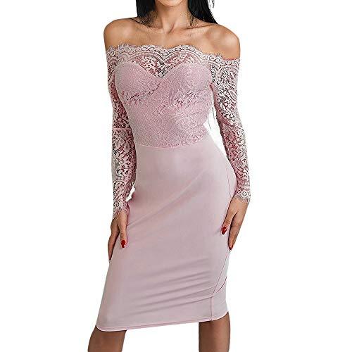 Womens Elegant Kleider Abend Party Fashion Club Cocktailkleid Retro Schwingen Einfarbig Abendkleider...