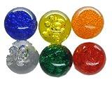 6x Deko Kugeln bunt gemischt für Wassersäule oder Deko