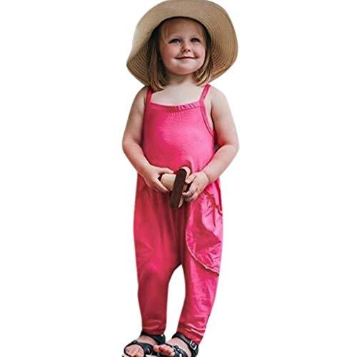 Obestseller Mädchenbekleidung,Ärmellose einfarbige Candy Color Roben für Babys Neugeborenen Jungen Mädchen Feste Overalls Strampler Overall Kleidung,Sommerkleidung 3 Footed Candy