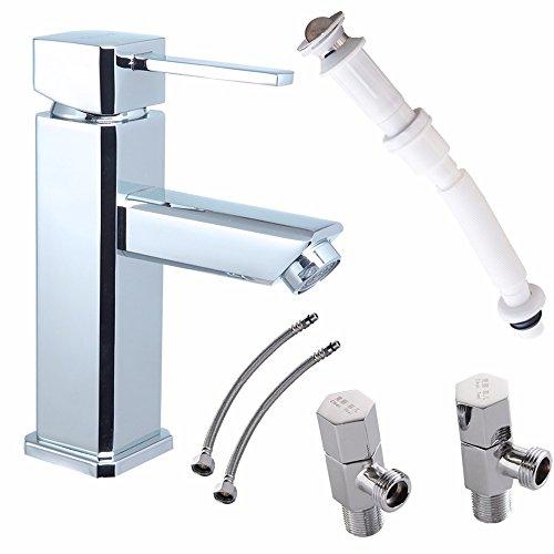 Badezimmer Schrank Voll Kupfer Waschtischmischer + Alle Kupfer Warmes Und Kaltes Wasser Winkel Ventil + Anti-Odour Abwasserkanal Eingestellt