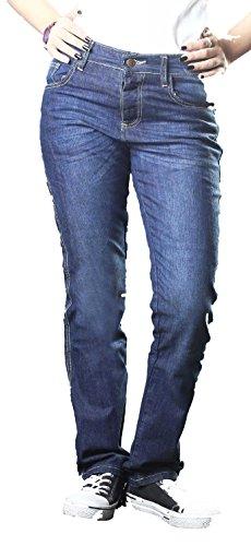 HB's Classic Fit Women DuPontTM ® gefütterte Motorrad-Armours Kevlar Jeans (Bekleidung Banner)
