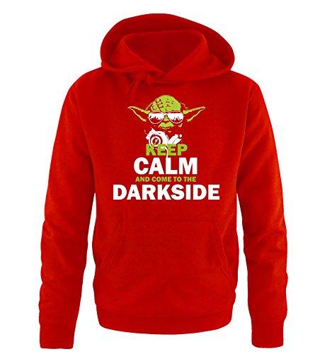 Comedy Shirts - CEEP CALM - DARKSIDE - Uomo Hoodie cappuccio sweater - taglia S-XXL vari colori rosso / bianco-verde