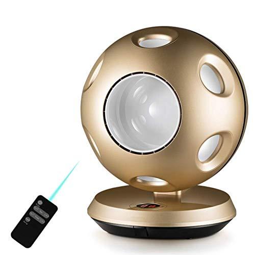 Preisvergleich Produktbild NWYJR Bladeless Fan Elektrische Remote-Tisch-Kugel Tragbaren Schreibtisch Ventilator Elektrische Luftströmung Kühlung Kühlen Ventilator,Gold