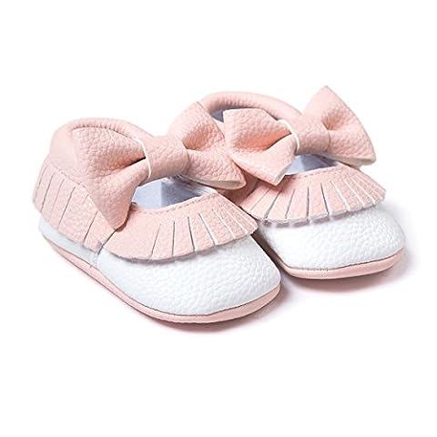 Royal Victory , Chaussures premiers pas pour bébé (fille) - - rose/blanc,
