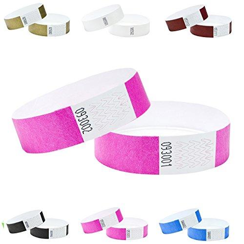 J&R 100er Pack Eintrittsbänder, Tyvek, 19mm,Farben wählen -