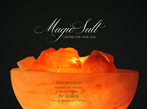 MAGIC SALT LIGHTING FOR YOUR SOUL Lampe en sel de l'Himalaya avec cristaux...
