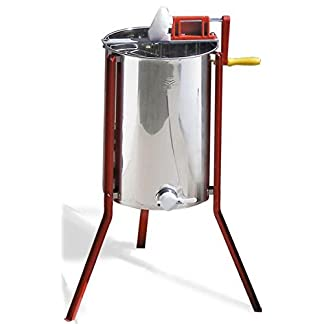 Quattro tangential extractor with manual drive. Affordable honey extractor for hobby beekeepers. 7