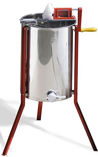 Quattro tangential extractor with manual drive. Affordable honey extractor for hobby beekeepers. 1