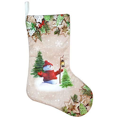 Wiffe DIY Grüne Weihnachten Strumpf Geschenk Halter Santa Claus Halter Taschen Für Home Weihnachten Party Weihnachten Baum Kinder Geschenke Dekoration (#2)