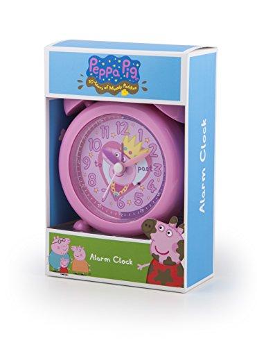 Peppa Pig Diversión–Reloj Despertador, Color Rosa