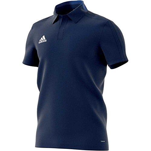 adidas Herren Condivo 18 Cotton Poloshirt, Dark Blue/White, L (Logo-t-shirt Gesticktes Adidas)