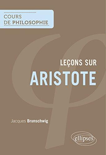Cours de Philosophie Leçons sur Aristot...