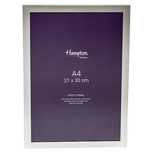 Yale Frames (yal41a4Yale Premium 15mm breit Profil, versilberte A4(21x 30cm) Zertifikat Foto, Bilderrahmen mit Glas vor und einem Stück keine Ecke Gelenke Rahmen)