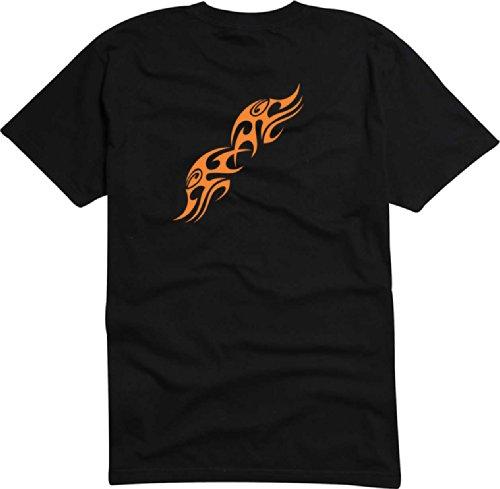 T-Shirt Herren Flügel des feuers Schwarz