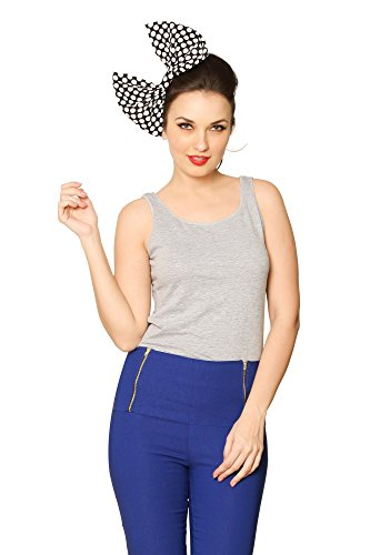 Miss Chase Women's Solid Casual Tank Top (MCS14TS01-03-17_Grey Melange_Small)  available at amazon for Rs.149
