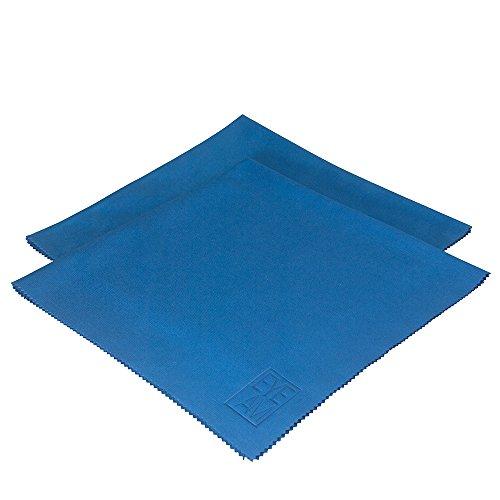 Brillenputztuch aus Mikrofaser in Premium Qualität – Blaues Mikrofasertuch für die Reinigung der Brille – Optiker Reinigungstuch, Staubtuch Extragroß 40 x 40 cm (2 x Mikrofasertuch)