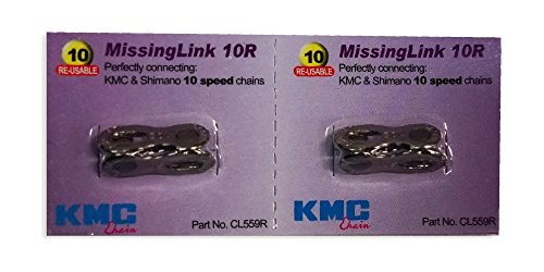KMC 2Sets Missing Link 10Speed CL559R für KMC & Shimano Silber