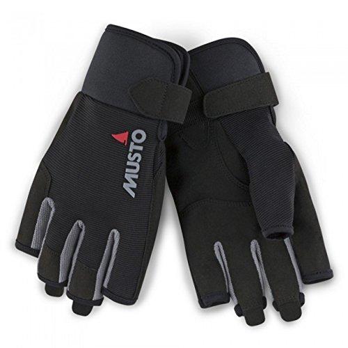 Musto 2018 Essential Sailing Short Finger Gloves Black AUGL003 Size - - Large