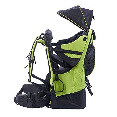 Rucksacktrage für Babys und Kleinkinder, Wander-Transport-Rucksack, Regenschutz und Sonnenschutz für das Kind, grün