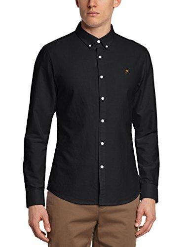 Farah Vintage Herren Freizeithemd, BREWER Black (Black Ink)