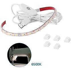 ONEVER Lumière de Bande Lumineuse légère de Couture de Machine à Coudre avec Le gradateur de Contact et l'alimentation USB