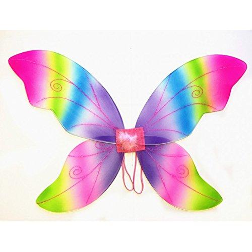 �-Groß (34in) Pixie Prinzessin Kleid bis Flügel von Schönheit Collection (Erwachsene, Schwarz) regenbogenfarben ()