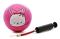 Picador Cute Cartoon Design Soccer Ball Size 2 with Ball Pump for Kids (Lovely Rabbit), size 2/Lovely Rabbit