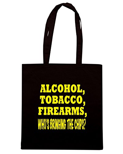T-Shirtshock - Borsa Shopping FUN0509 aft chips decal 70712 Nero