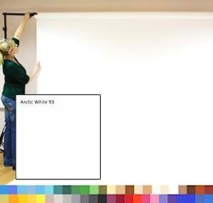 Creativity Backgrounds 9' Wide Toile de fond de studio photo pour usage professionnel et privé, sans pli et sans zone de friction, support vendu séparément Blanc, Lg 2,72 m x l 11 m poids brut 180 gsm