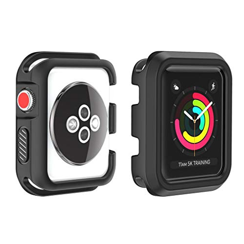 Ouneed Für Apple Watch Series 1/2/3 42mm Hülle, Robuste Rüstung Bumper Resilient Shock Absorption Protected Case Cover for Apple Watch Series 1/2/3 42mm (D) Rüstung Series Case