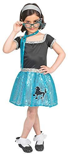Kostüm Kinder Sixties - Das Kostümland Sixties Kostüm Sweety Lou für Mädchen - Blau Gr. 152