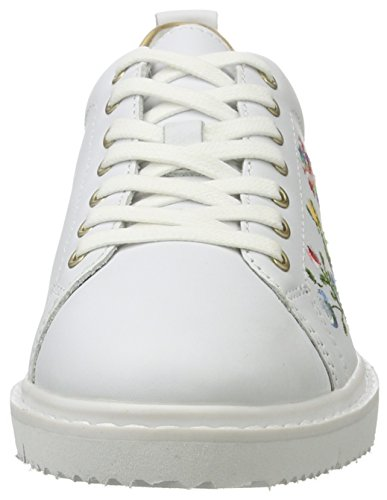 Tamaris 23716, Sneakers Basses Femme Blanc (WHT/GOLD CRACK 195)